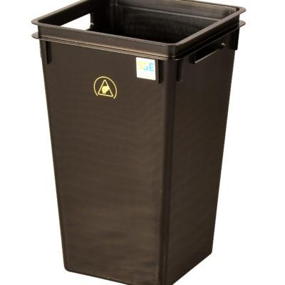 Wez conductive plastic ESD waste bin