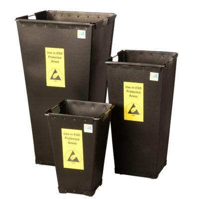 ESD Bins - Conductive Fibreboard Waste Bins