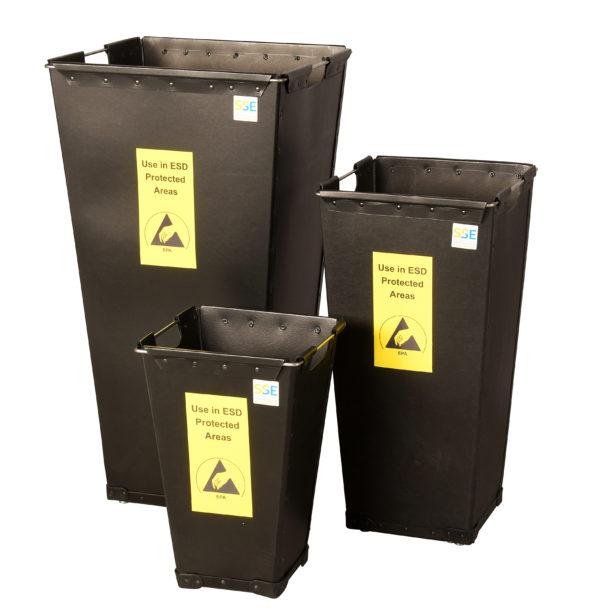 ESD Bins  – Conductive Fibreboard Waste Bins