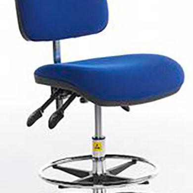ESD Shell-back Chair high – glides – vinyl 500-690mm