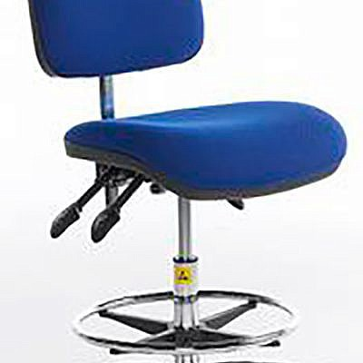 ESD Shell-back Chair high – glides – vinyl 500-690mm