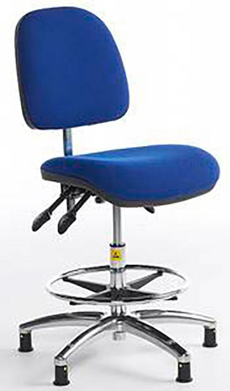 ESD Shell-back Chair high – glides – cloth 500-690mm