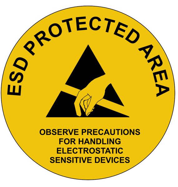 EPA Floor, Wall and Door Sign 300mm diameter