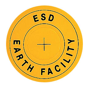 ESD earth facility label