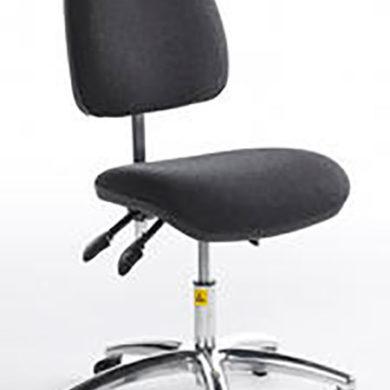 ESD Shell-back Chair low – castors – vinyl 430-570mm
