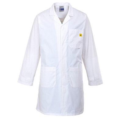 Unisex ESD Lab Coat White