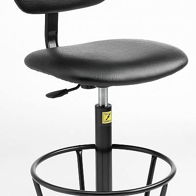 ESD Economy Gas-Lift Chair, high model with feet 550mm - 800mm