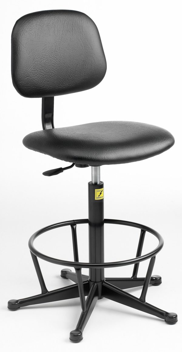ESD Economy Gas-Lift Chair, high model with feet 550mm – 800mm
