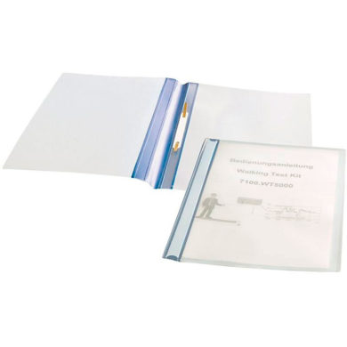 Static Dissipative Clear Binders with blue spine