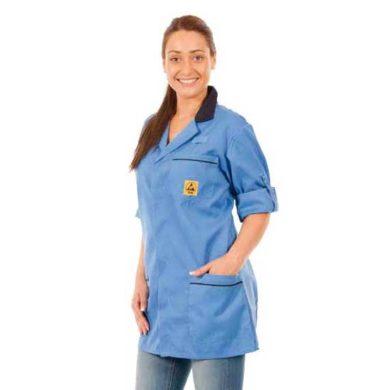 Unisex ESD Lightweight Short Jacket Blue