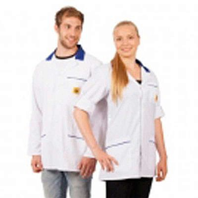 Unisex Esd Lab Coat White Static Safe Environments
