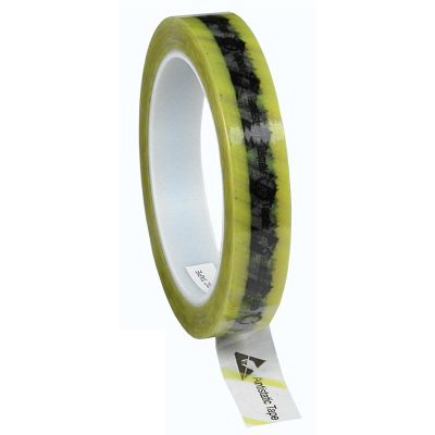 Antistatic Cellulose Tape with yellow stripe