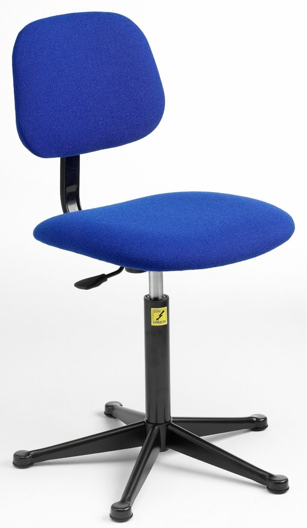 ESD Economy Gas-Lift Chair, low model with feet 430-570mm