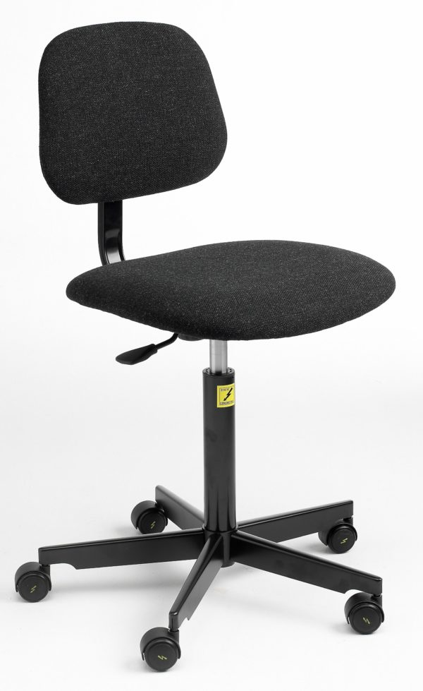 ESD Economy Gas-Lift Chair, low model with castors 450-590mm