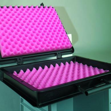Anti Static Foam - Pink - profiled inserts