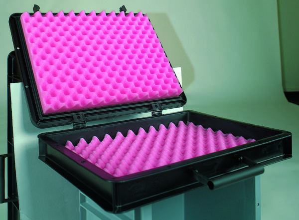Anti Static Foam – Pink – profiled inserts