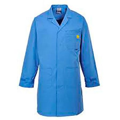 Unisex ESD Lab Coat Blue