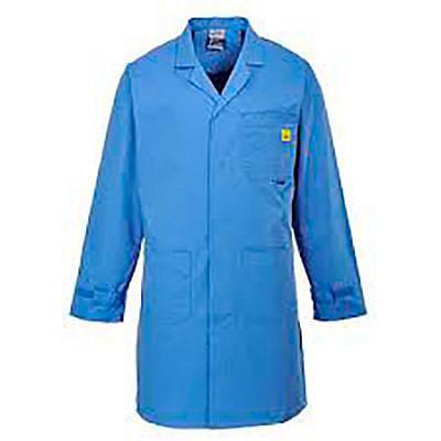 Unisex Esd Lightweight Short Jacket White Static Safe