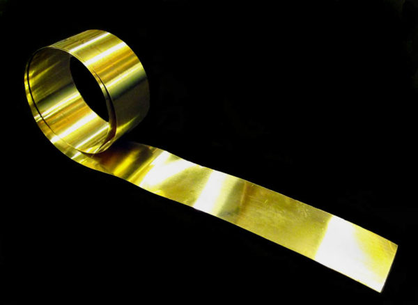 Brass Foil Strip 18mm Wide Static Safe Environments