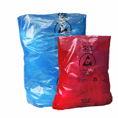 Anti-static ESD refuse bin liners (47039 blue 110 litre & 47043 red 50 litre)