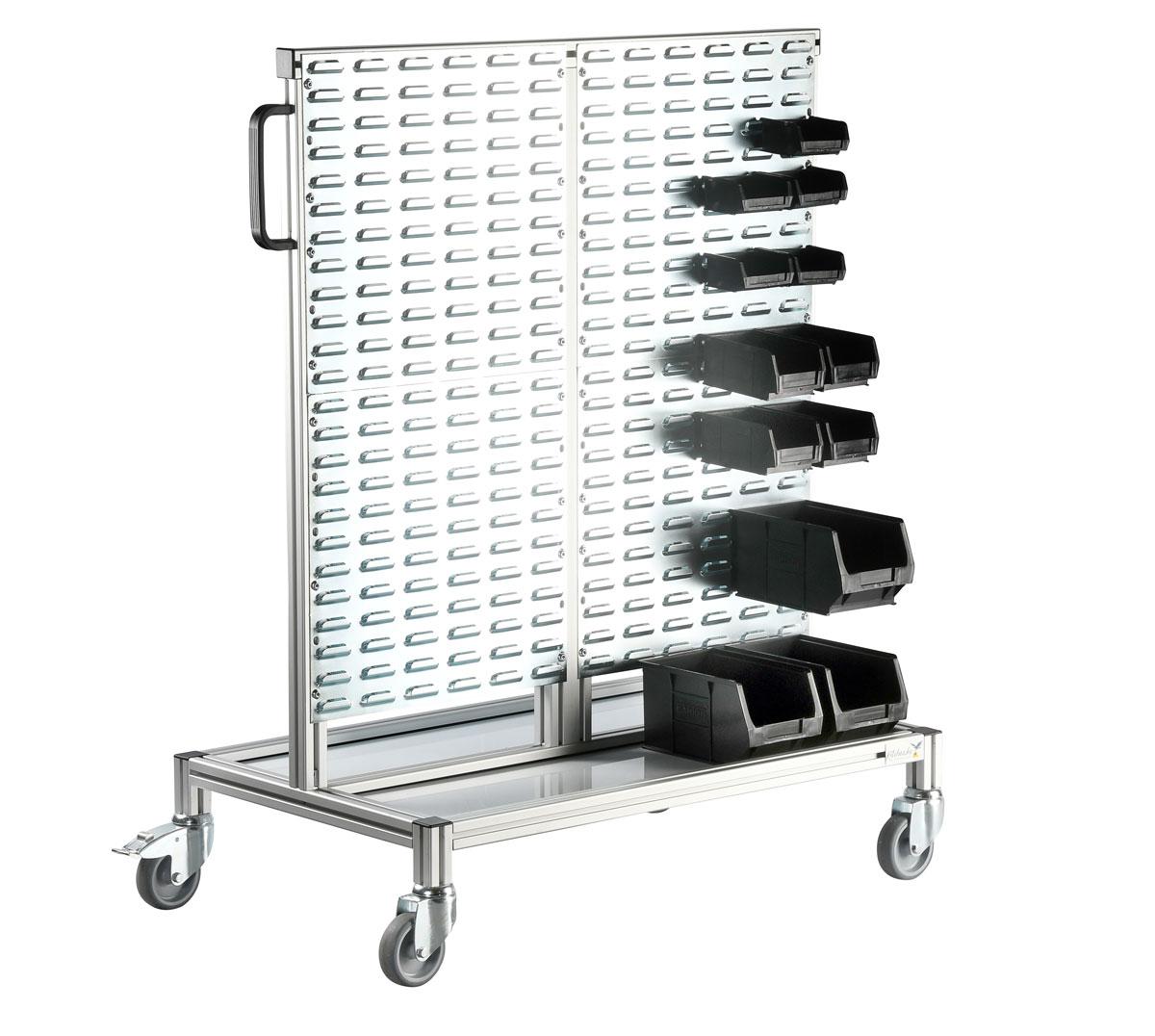 Kitehawke louvred panel ESD trolley