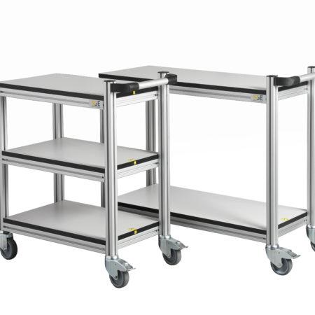 Kitehawke aluminium ESD trolleys