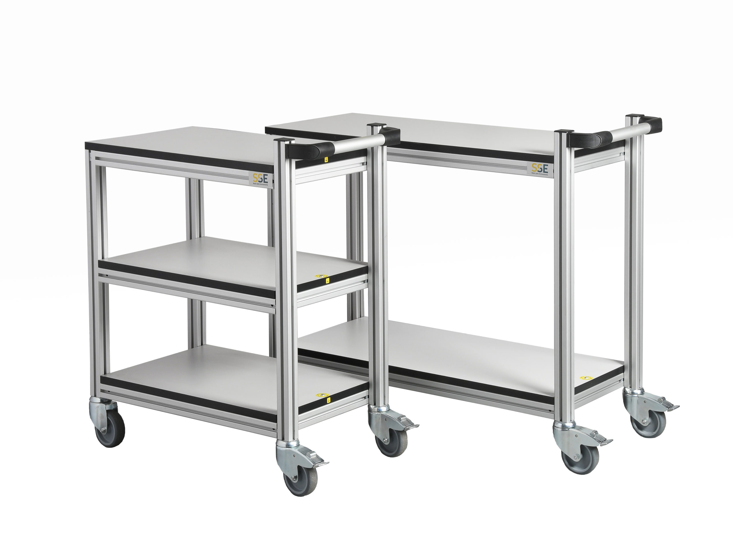 Kitehawke aluminium ESD trolleys