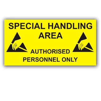 Special handling area sign