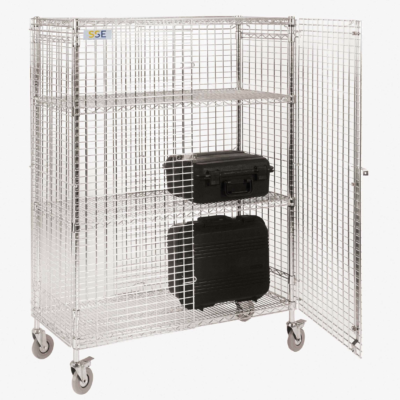 Robust, mobile ESD mesh security cages suitable for use in EPAs - Static Safe Environments