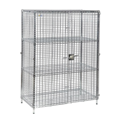Robust, lockable ESD mesh security cages - Static Safe Environments