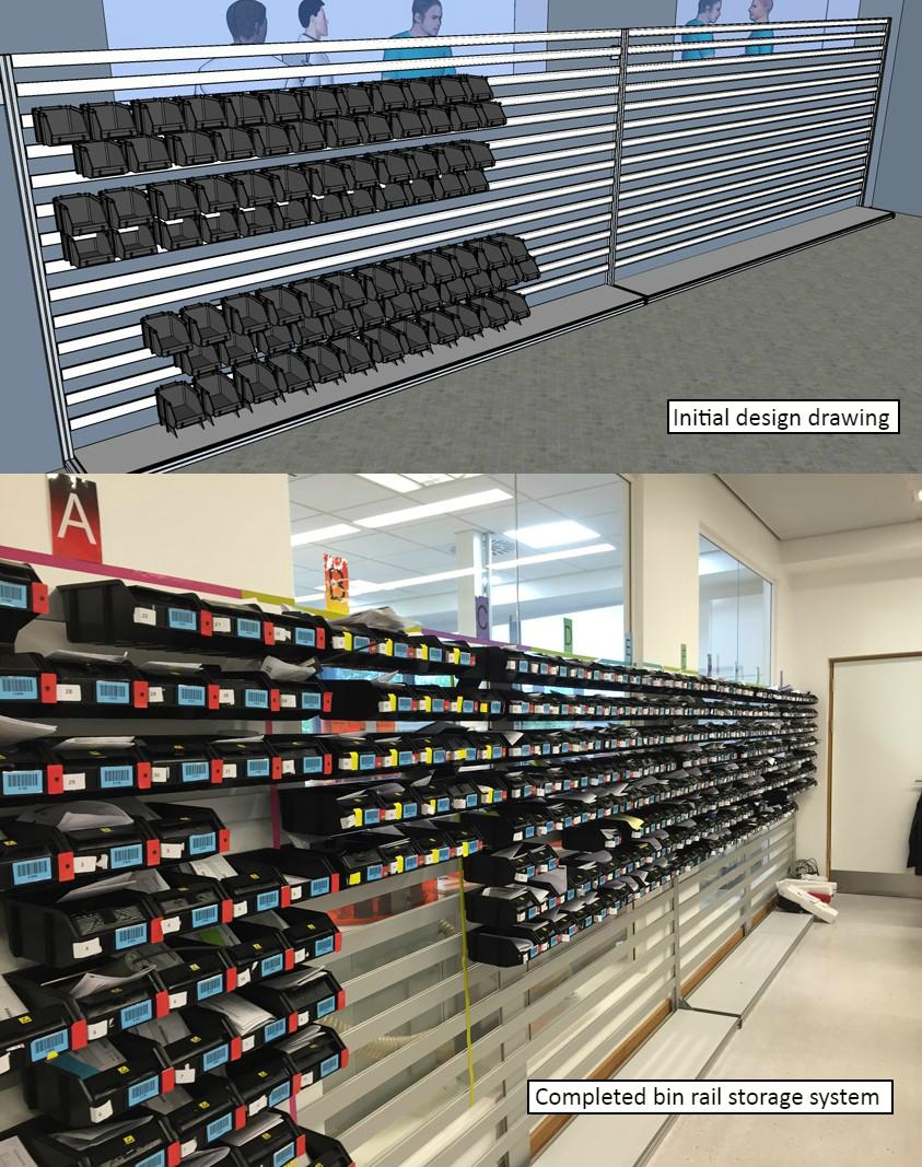 ESD bin rail installation