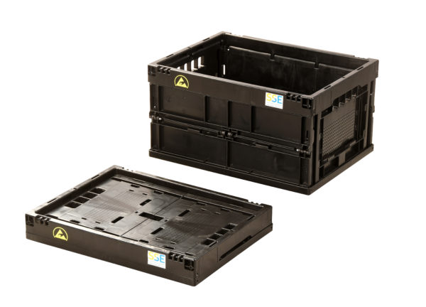 ESD Collapsible Boxes and Lids