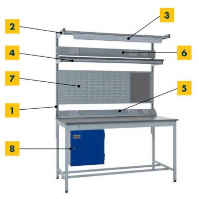 Modular Steel ESD Bench Accessories