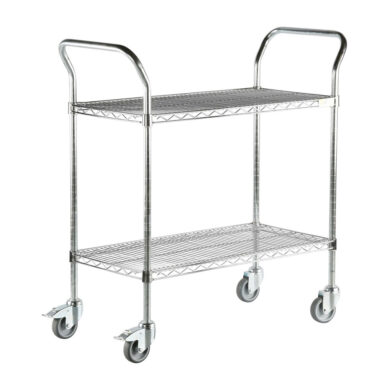 71034 - Two tier wire mesh ESD trolley